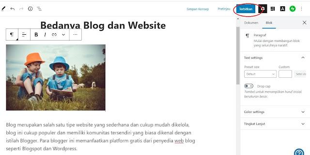Membuat Blog menggunakan Wordpress