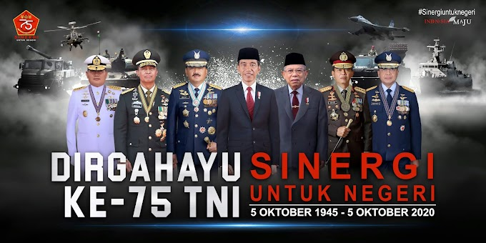 Download Tema, Logo, Banner, Spanduk, Baliho HUT TNI ke-75 Tahun 2020
