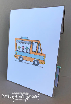 Stampin' Up! Tasty Trucks, Window Card, Sale-A-Bration created by Kathryn Mangelsdorf