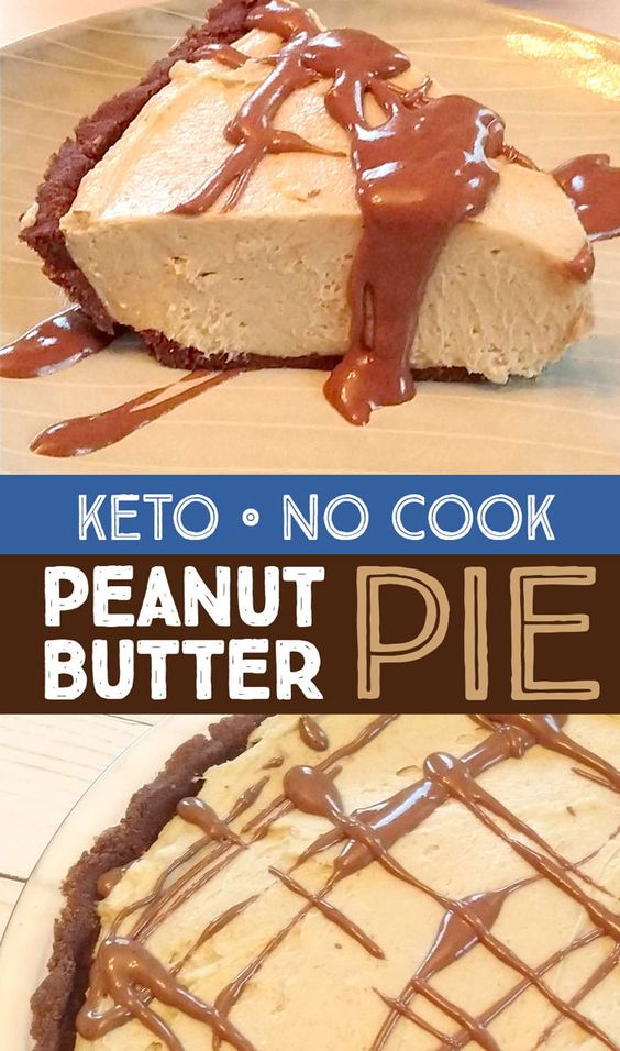 Easy No Cook Low Carb Chocolate Peanut Butter Pie
