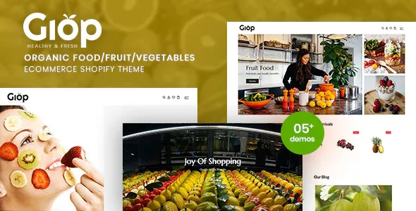 Best Organic Food Fruit Vegetables eCommerce Shopify Theme