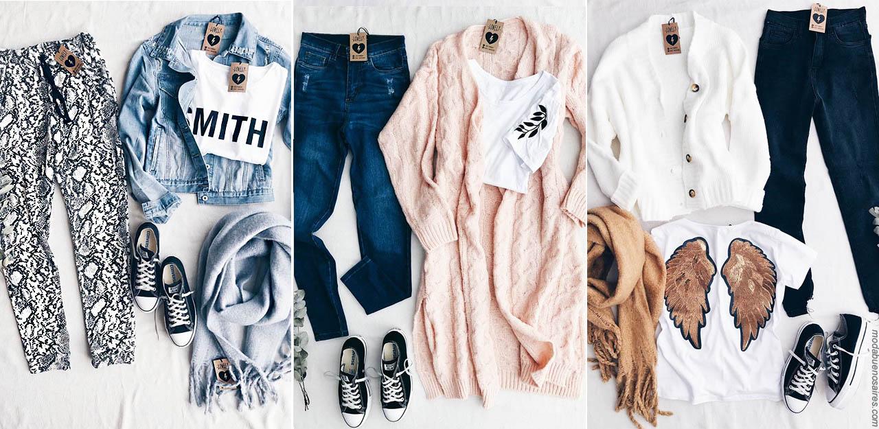 Moda invierno 2019: básicos urbanos, moda jeans, leggings, babuchas. joguinetas, remeras y abrigos invierno 2019 mujer con precios argentina.