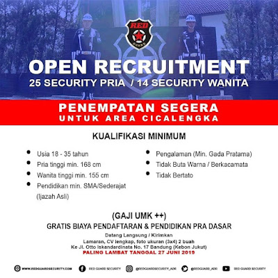 Loker red guard Security 2020