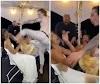 'Dança do acasalamento' não funciona e noivo chuta noiva na cara; veja vídeo