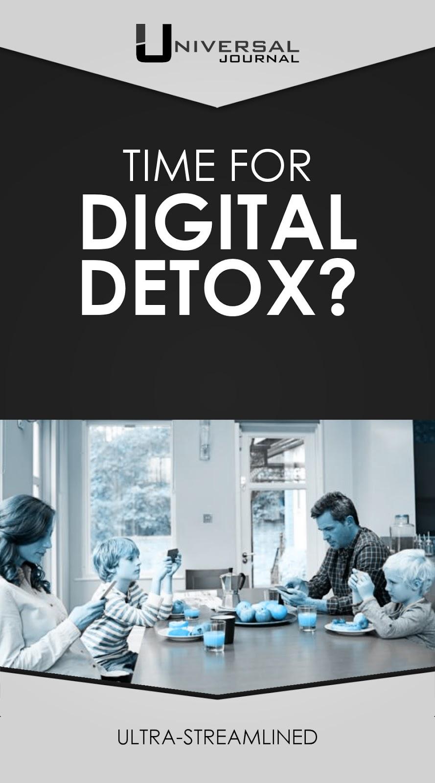 bullet journal-time for digital detox