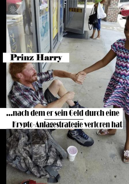 Prinz Harry - Kryptowährung Anlagestrategie - witzige Bilder mit Text