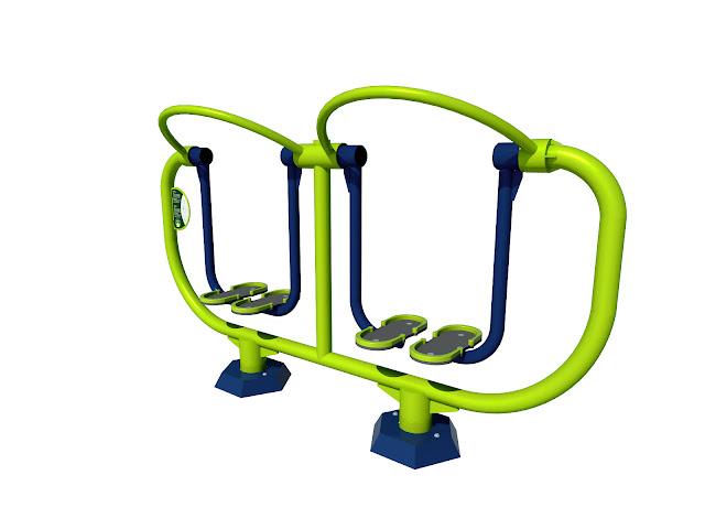 Biegacz dwuosobowy podwójny siłownia dla dzieci Starmax