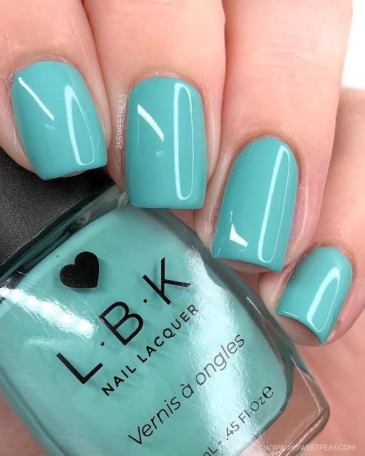 LBK Nail Lacquer Aqua Marine Green
