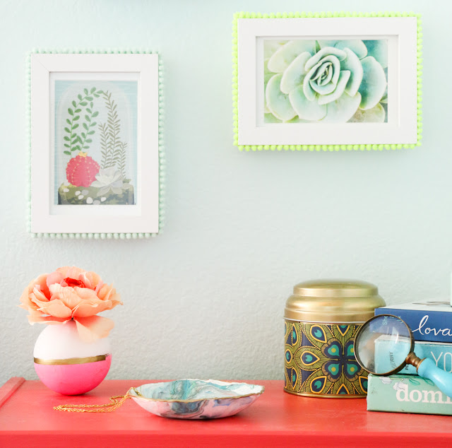 DIY Clay Orb Color Blocked Bud Vase