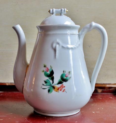 vintage ironstone coffee pot