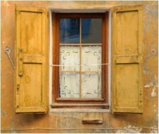 Old window frame.