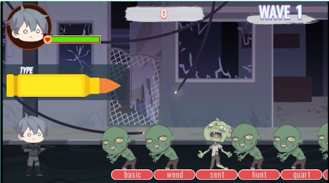 game zombie typing