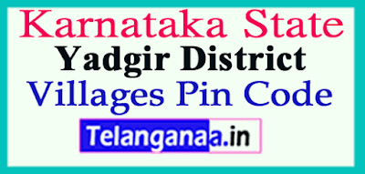 Yadgir Pin Codes in Karnataka State