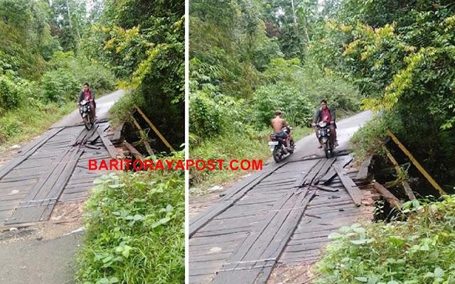 Kondisi Jembatan Balawa Mengalami Kerusakan, Diduga Akibat Angkutan yang Melebihi Tonase