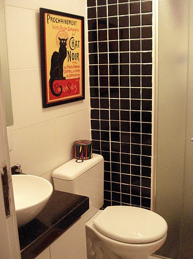 BANHEIROS COM PASTILHAS DE VIDRO, VERMELHA, VERDE E PRETA  FOTOS -> Banheiro Com Pastilha De Vidro Vermelha