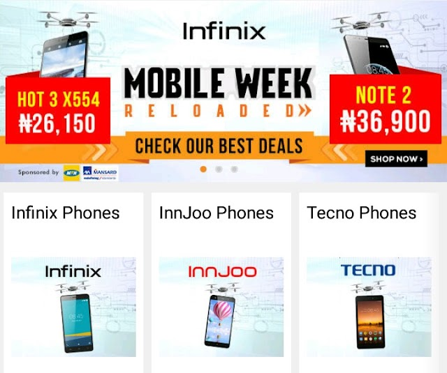 Jumia Mobile Week Day 1: Buy Infinix Hot 3 Pro & Hot note 2 Cheaply