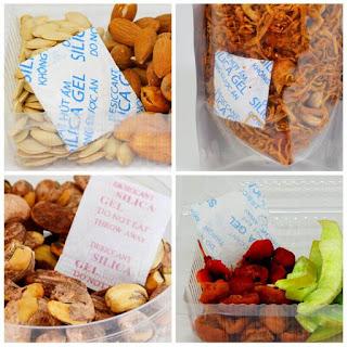 Gói hút ẩm cho thực phẩm chế biến