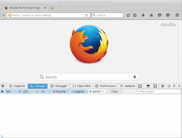 Firefox versão 46 com _Toogle Tools_ em execução