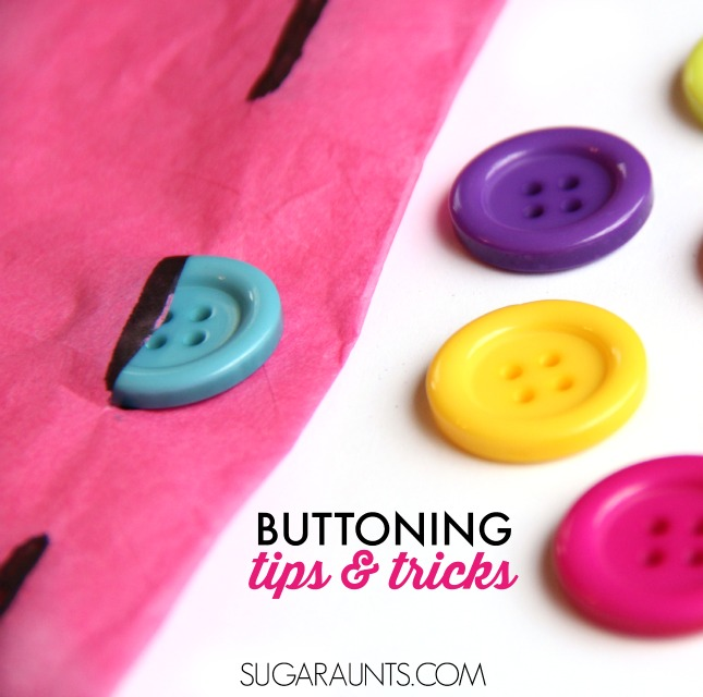 Teach kids how to button with this cute egg carton buttoning activity!  This is fun to make while working on fine motor skills and helping kids with a difficult self-care task.