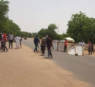 Covid-19 Patients Carried out Protest in Gombe State.