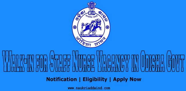 nursing job vacancy in odisha