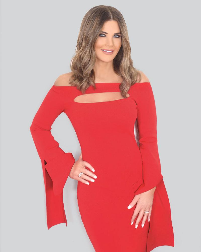 Mona Abou Hamze Presenter Seksi dari Lebanon model rambut terbaru
