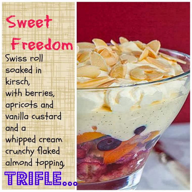 Sweet Freedom Trifle With Berries, Custard & Cream