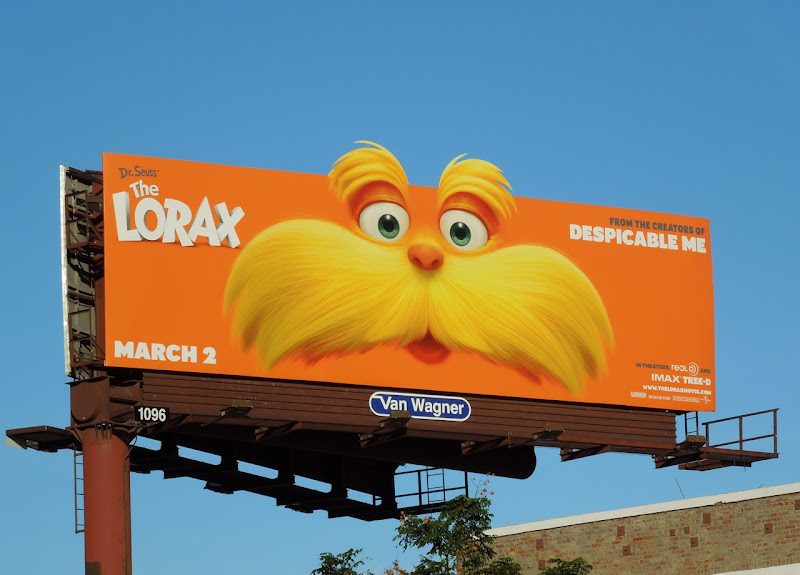 Dr Seuss' The Lorax movie billboard