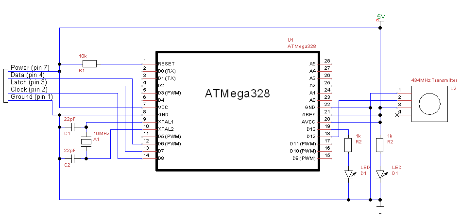 The Poor Student Hobbyist: Wireless NES Controller Using Arduino Nes Power Pad Wiring Diagram on