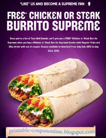 Taco bell coupons 2018 july