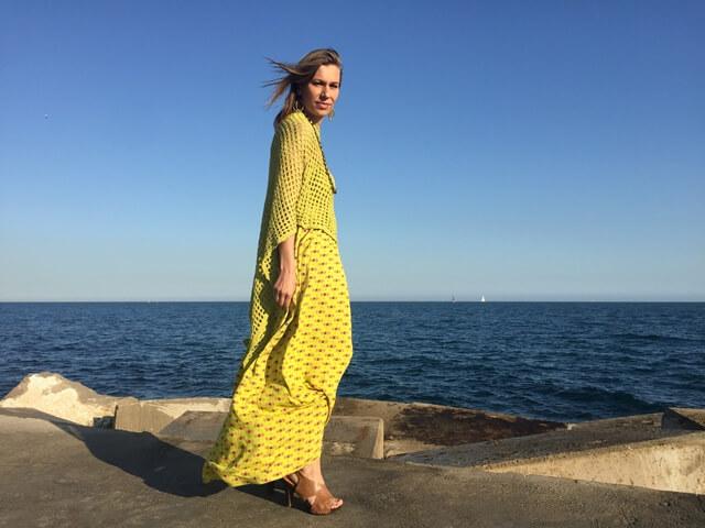 vestido largo amarillo surkana