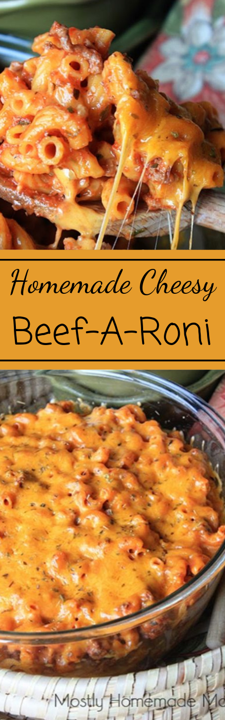 Homemade Cheesy Beef-a-roni with Barilla #dinner #homemade #cheesy #easy #familyfood