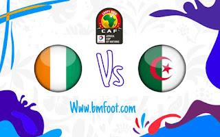 ملخص مباراة الجزائر ضد الكوت ديفوار مباشرة اليوم في ربع نهائي كأس الأمم الأفريقية