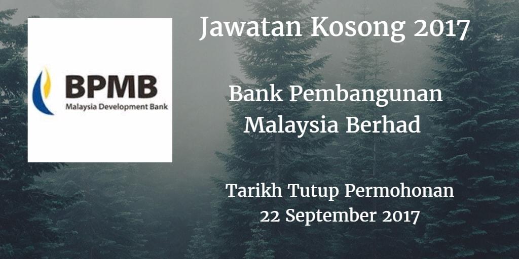 Jawatan Kosong BPMB 22 September 2017