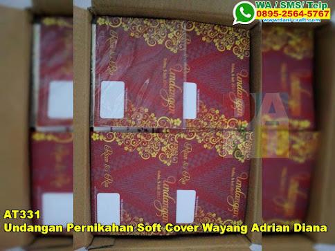 Jual Undangan Pernikahan Soft Cover Wayang Adrian Diana