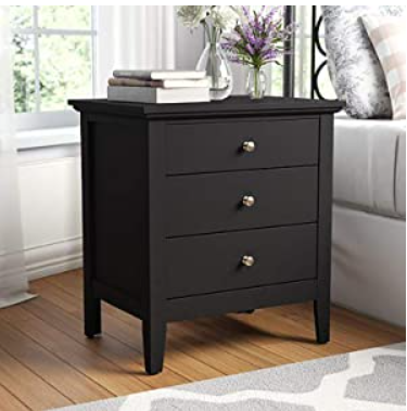 Modway Contemporary Bed Side Table features 3 Sliding Drawer & Give Your Home A Luxurious Look