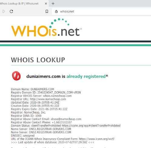 cek domain, cara cek pemilik domain