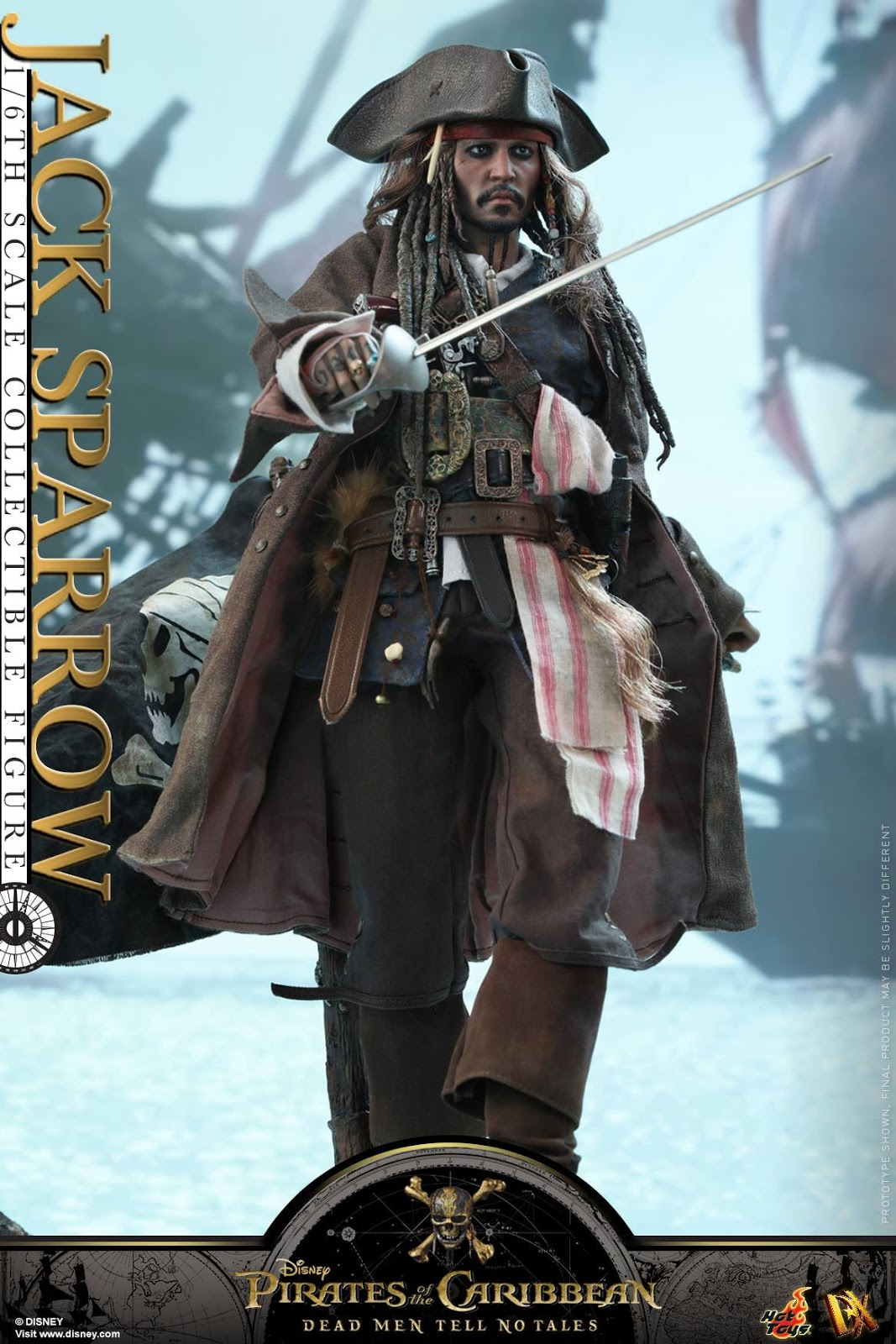 Hot Toys DX15 Pirates of the Caribbean Jack Sparrow  Figures 1//6 Scale Pants