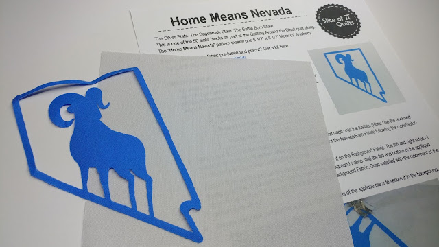 Home Means Nevada precut and prefused quilt block kit