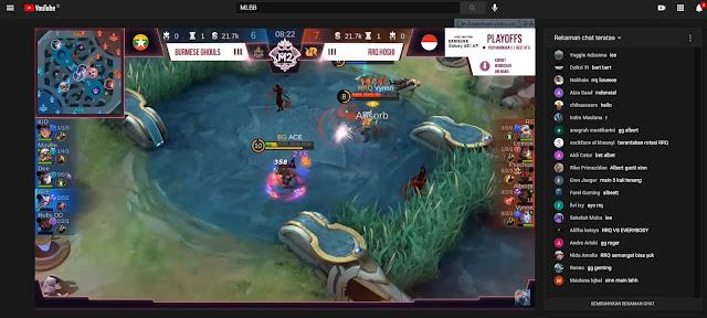 Menonton Live Streaming Pro Player