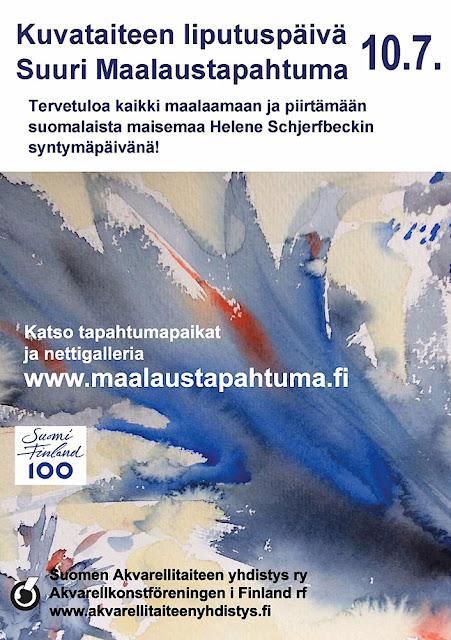Kuvataiteen liputuspäivä ja Suuri Maalaustapahtuma 10.7.2017
