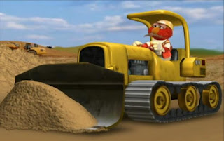 Dorothy is imagining elmo as a construction worker driving a bulldozer. Sesame Street Elmo's World Building Things Tickle Me Land