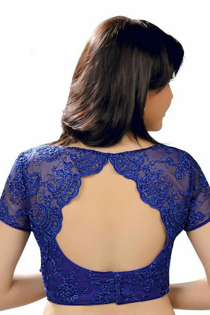 e2b60245f98dff  39 Pretty scalloped cut out saree blouse back neck design for parties