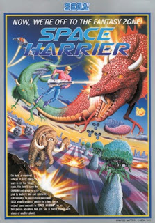 Space Harrier arcade game portable retro art flyer cool