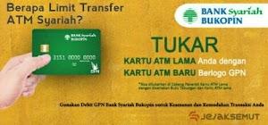 Berapa Biaya Transaksi & Limit Transfer ATM Bukopin Syariah?