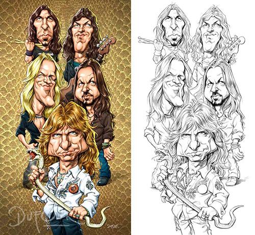 """Whitesnake"" por Santiago Dufour"