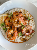 Shrimp and Hatch Chili Grits