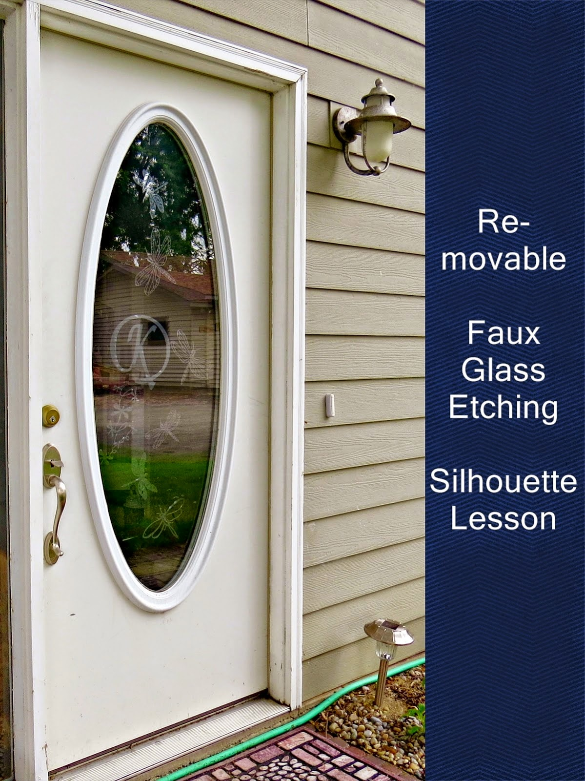 Faux, etched glass, door, Silhouette, Silhouette tutorial