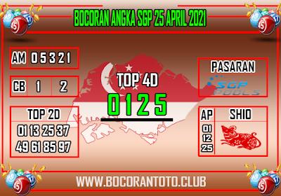 Bocoran SGP 25 April 2021