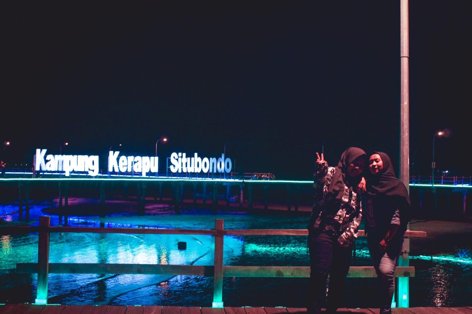Pesona Situbondo : Keindahan Wisata Kampung Kerapu di Malam Hari